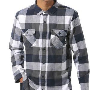 VANS Button Up Flannel Shirt Plaid Tailored Fit XL